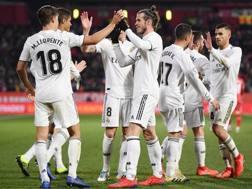 L'esultanza del Real Madrid nel match contro il Girona. Getty