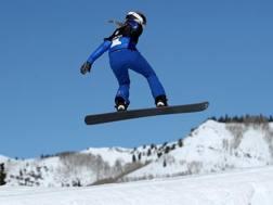 Michela Moioli in azione nello Utah. Afp