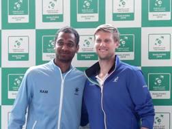 Ramkumar Ramanathan con Andreas Seppi