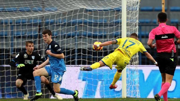Il gol che ha sbloccato la partita di Emanuele Giaccherini ANSA