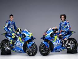 Joan Mir, a sinistra, e Alex Rins con la nuova Suzuki.