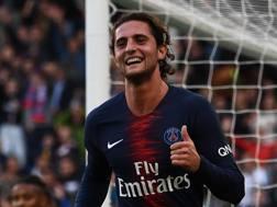 Adrien Rabiot, centrocampista del Paris Saint-Germain. AFP