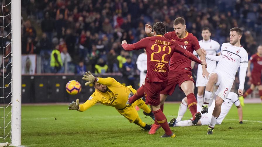 bef235e3ed Roma-Milan 1-1: gol di Piatek e Zaniolo - La Gazzetta dello Sport ...