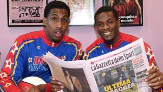 Harlem Globetrotters in Gazzetta