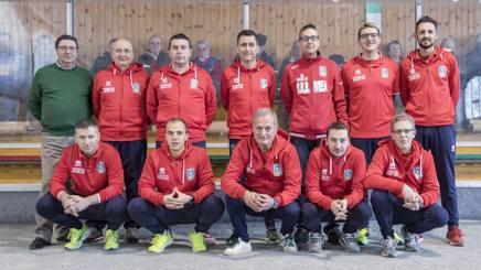 Gli atleti della Brb, squadra capolista del campionato di serie A