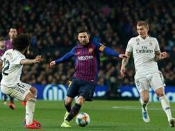 Un'immagine della sfida del Camp Nou. Ap