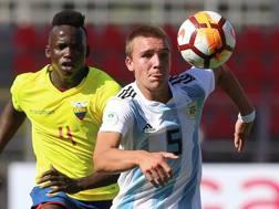 Pedro De La Vega, con la maglia dell'Argentina. AFP