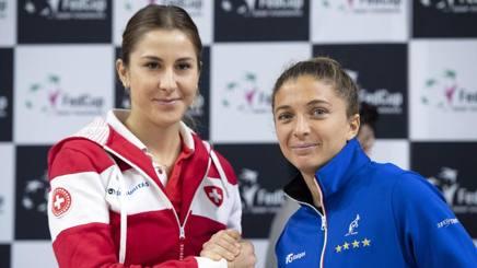 Belinda Bencic, 21 anni, e Sara Errani, 31, al sorteggio. Ap