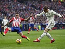 Il momento del terzo gol di Bale. Ap
