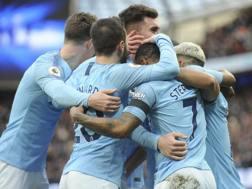 L'esultanza del Manchester City. AP