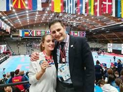 Asia Agus con il coach azzurro e suo Maestro Andrea Torre