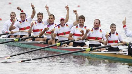 L'otto tedesco campione olimpico a Londra 2012: Reinelt è il 5° da sinistra. Ap