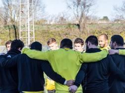 I giocatori del Carcassonne. Fb della squadra