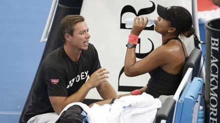 Naomi Osaka con l'ex coach Sascha Bajin. Ap
