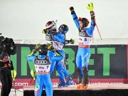 La gioia degli azzurri dopo il bronzo. GETTY