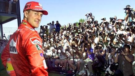 Michael Schumacher ai tempi della Ferrari. Ansa
