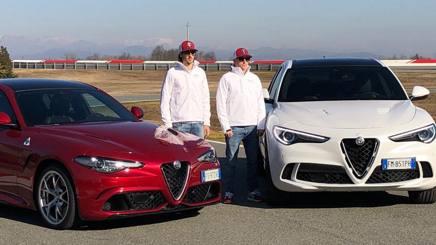 Antonio Giovinazzi e Kimi Raikkonen