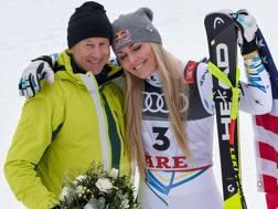 Ingemar Stenmark, 62 anni, e Lindsey Vonn, 34. Afp