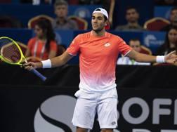 Matteo Berrettini, uno dei tennisti che hanno vinto il titolo di A-1 con l'Aniene. Epa