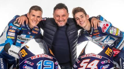 Da sinistra Rodrigo, Gresini e Rossi