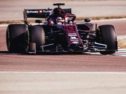 La livrea quadrifoglio sull'Alfa Romeo che ha girato a Fiorano con Raikkonen