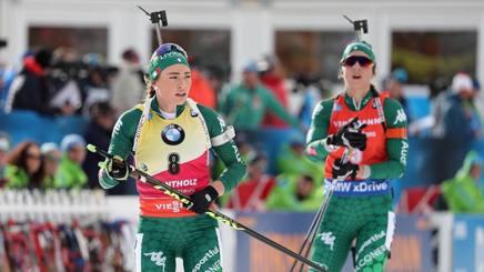 Dorothea Wierer e Lisa Vittozzi. Ansa