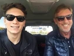 Manuel Bortuzzo, 19 anni, con il padre Franco