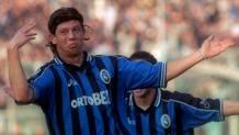 Massimo Donati con la maglia dell'Atalanta. Omega
