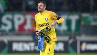 Samir Handanovic, portiere dell'Inter. Getty