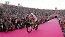 Ivan Basso vince a Verona il Giro del 2010. BETTINI