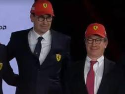 Il nuovo team principal Mattia Binotto (a sin) con l'ad Louis Camilleri