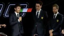 Da sinistra Lelclerc, Binotto e Vettel