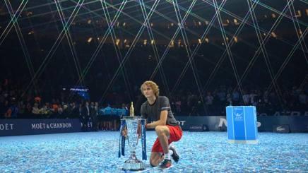 Sascha Zverev vincitore delle Finals a Londra nel 2018. Epa