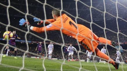 Il rigore messo a segno da Messi. Ap