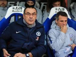 Maurizio Sarri e Gianfranco Zola. GETTY