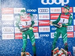 Francesco De Fabiani e Federico Pellegrino festa sul podio