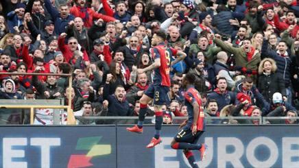 L'esultanza del Genoa. LaPresse