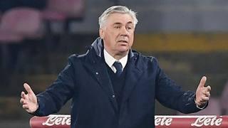 Carlo Ancelotti, prima stagione sulla panchina del Napoli. Getty