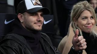 Icardi e Wanda a San Siro per Inter-Sampdoria. Getty