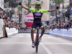 Simone Velasco, 23 anni, vince il Trofeo Laigueglia. Bettini