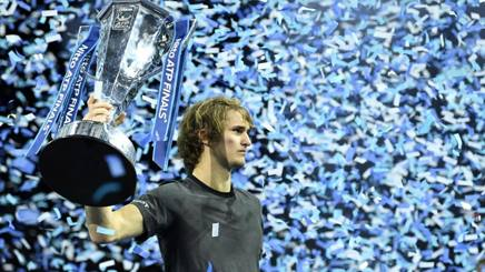 Alex Zverev, campione alle ultime Finals. Epa