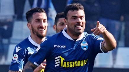 Andrea Petagna, prima stagione alla Spal. Ansa