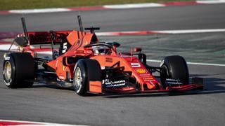 Vettel in azione al Montmelò. Getty