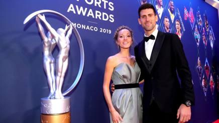 Novak Djokovic con la moglie Jelena. LAUREUS