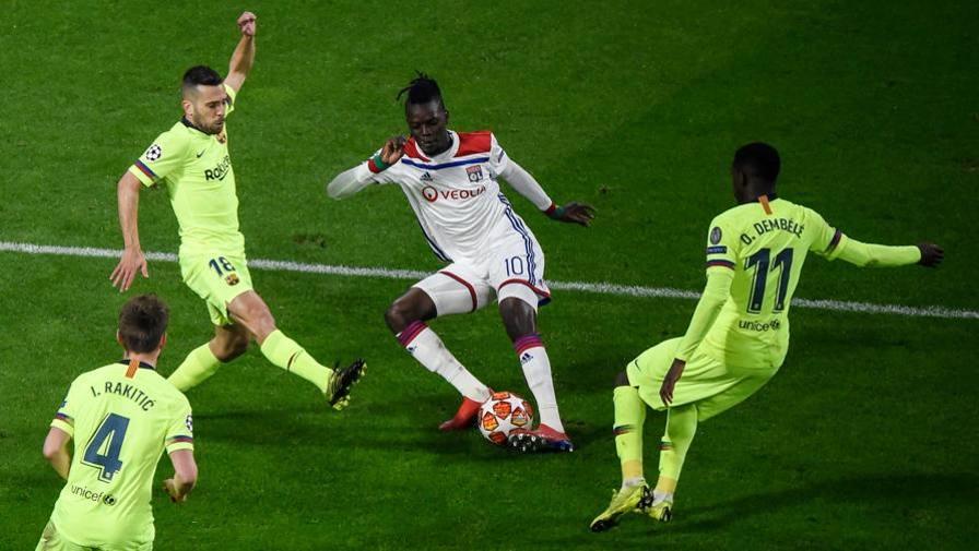 Jordi Alba, sinistro largo LIVE Lione-Barcellona 0-0