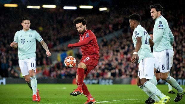 Per Salah poche occasioni pericolose contro il Bayern. Epa