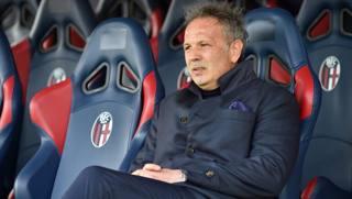 Sinisa Mihajlovic, allenatore del Bologna. Lapresse