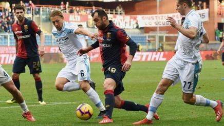 Goran Pandev contro la Lazio. Lapresse