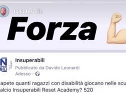 Il sostegno di De Silvestri. Instagram