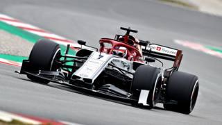 Kimi Raikkonen con l'Alfa Romeo Racing. Getty